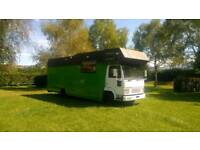 Large motorhome with large kitchen, ideal for long term traveling, festivals etc