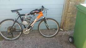 Mongoose mountain bike with engine