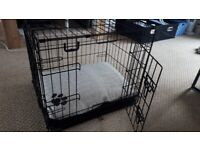 2-Door Collapsible Puppy Crate & Puppy Bed