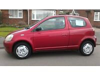 Toyota Yaris for sale.2003. Good order throughout. 2 prev.owners.12 months MOT..91000 miles.£925.ono