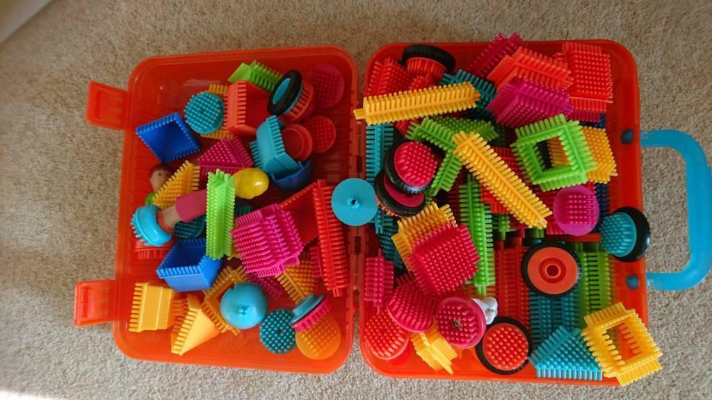 Bristle blocks aka stickle bricks