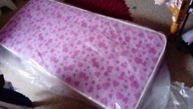 Kid's shorty nearly new single mattress
