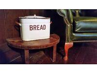 Antique Enamel Bread Bin