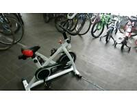 Brand New White Stationary Exercise Spin bike