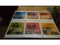 Andy Warhol quotation prints x6. Brand new. Only £12 for lot