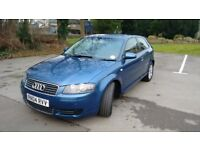 Audi A3 SE 2.0 TDi, 2004 Metallic Blue, Alloy wheels, Leather RS seats, Sat-Nav