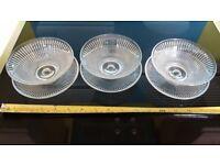 Glass Bowls & Saucers (x3)