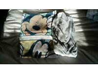 Mickey and Friends toddler duvet set and fitted cotbed bedsheet