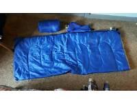 Pair of sleeping bags.