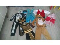 Dressing up costumes, (6 in total) from ages 3-5