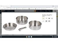 bo-camp urban outdoor stainless steel cooking set