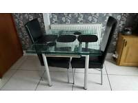 Harveys extending table and chairs