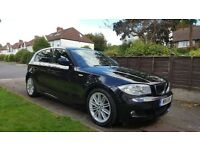 BMW 1 Series | 123D | M-Sport | 205BHP | 40.3MPG | Black | 64000