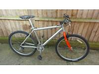 Men's Lightweight polished aluminium framed mountain bike