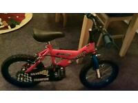 CHAMPION SILVERFOX CHILD'S BIKE RED EXCELLENT CONDITION HARDLY USED-IDEAL CHRISTMAS GIFT