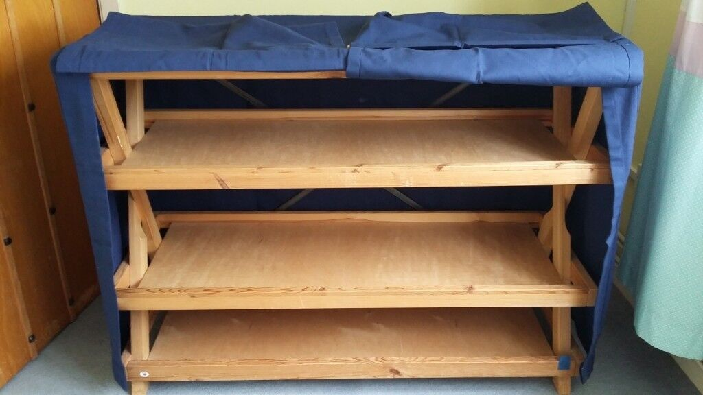Habitat Blue Fabric Covered Shelf Storage Cover Is New