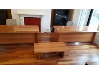 Lovely large desks with matching coffee table and 2 large bookshelves