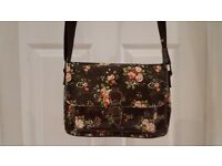 A4 size brown bag with flowers