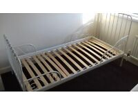 Ikea Extendable single bed with mattress