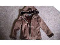 Ladies Jacket, hooded, peter storm, faux sheepskin