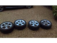 "VW GOLF MK5 GTI 17"" WHEELS & TYRES 225/45/17 (Conti & Hankook)"