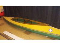 2 Man Wooden Canoe for Sale