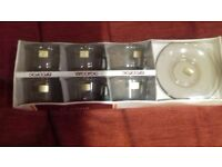 NEW BOXED - 2 Sets of 6 Tougherned Glass Cups & Saucers