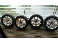 """4 Peugeot 308 16"""" Alloys & 1 yr tryes"""