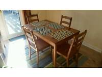 Ikea Dining room table and chair set