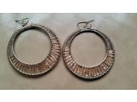 Large gold plated circle earrings