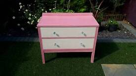 Shabby chic chalk paint chest of drawers