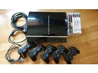 Playstation 3 +5 controllers +6 games