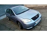 TOYOTA COROLLA 1.4 PETROL 5 DOORS SUPER RELIABLE PRIVATE PLATE PAUL