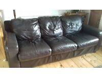 FREE leather 3 seat sofa