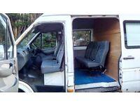 Mercedes Sprinter 311CDi LWB High Roof 2006 crew cab 6 seats 124k 1yr MOT NO VAT £4950ono