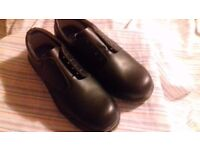 Pair of Mens black working Shoes size 10