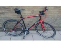 (£350)Specialized Sirrus A1 premiun Aluminun/carbon customized+Black helmet specialized