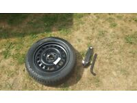 Spare tyre vauxhall corsa sxi 2001 with jack