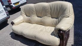 Second hand leather sofas