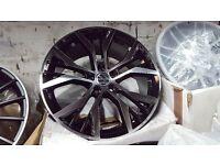 "Vw golf gtd gte gti santiago style performance pack alloy wheels 18"" 5112 vag audi s line golf caddy"