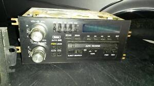 1980s GM retro car stereo and face off cd stereo