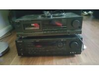 Technics Cassette Deck & Sherwood Surround Amplifier