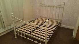 Cream Vintage iron double bed
