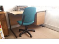 Office desk with 3 drawers (left or right side) & office chair