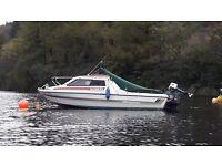 18 ft Fletcher Vigo day cruiser / boat with 85hp Yamaha outboard