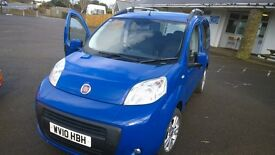 fiat qubo m- jet m.p.v ,2010 registration, 1300 cc turbo diesel , only 70,000 miles ,new mot