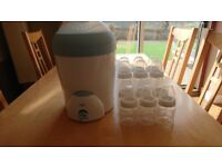 NUK Vapo Rapid Steam Steriliser with 12 NUK First Choice Bottles