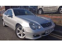 2006 Mercedes-Benz C Class 2.1 C200 CDI SE 2dr Coupe,Warranty&Breakdown Available,£2,195 p/x welcome