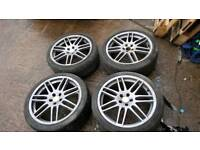 genuine audi RS4 alloys 4x