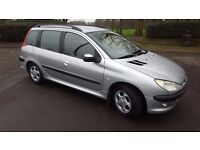 2002 PEUGEOT 206 ESTATE 1.4 M,O,T AUGUST LOVELY WEE CAR